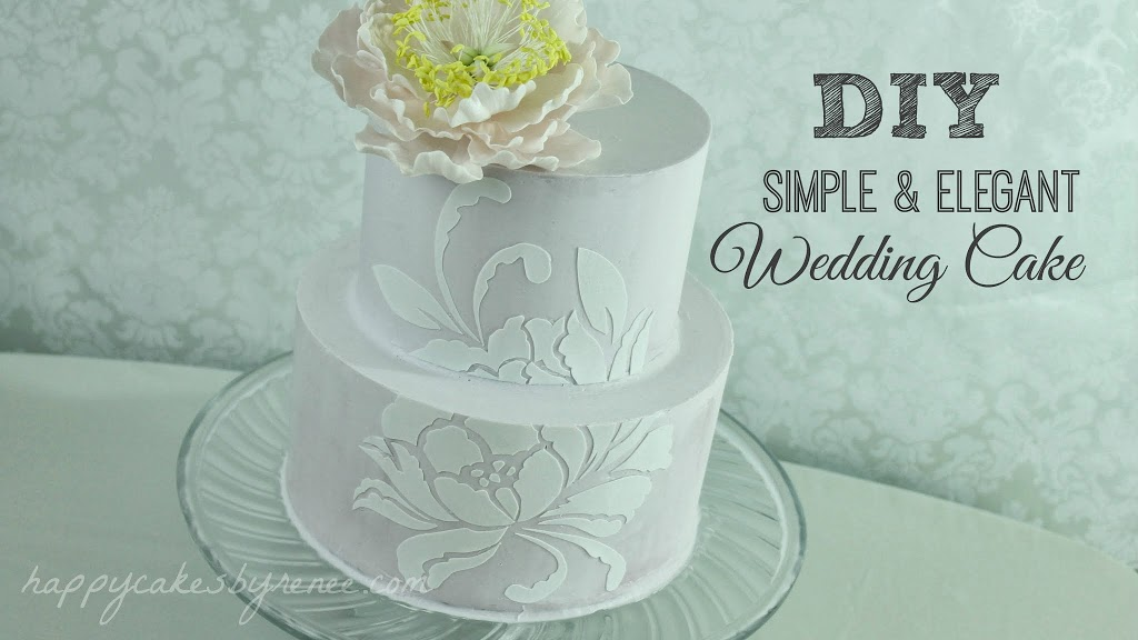 DIY Simple & Elegant Wedding Cake