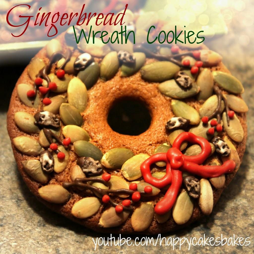 Gingerbread Wreath Cookies