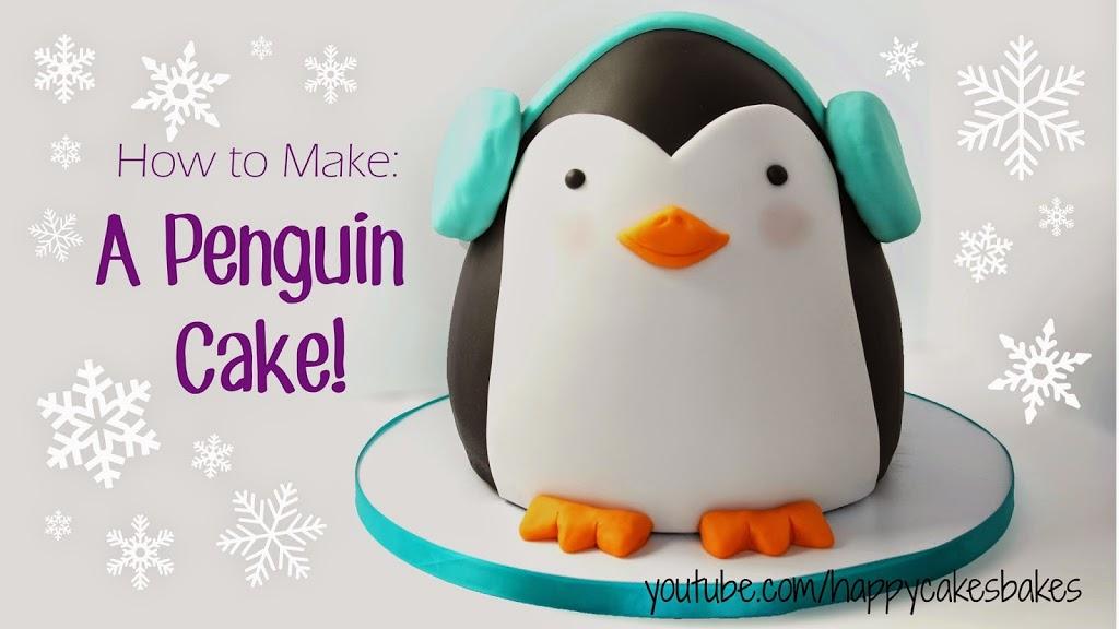 Adorable Penguin Cake