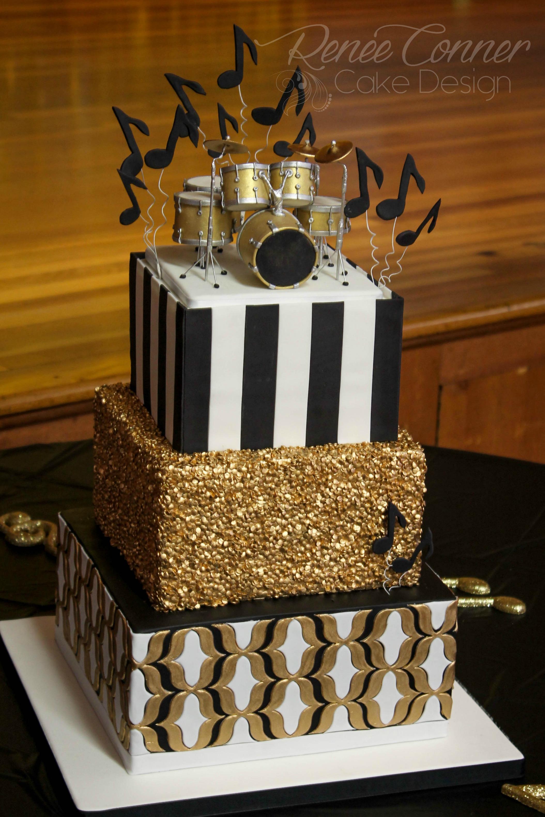 Music Single Layered Cake Designs