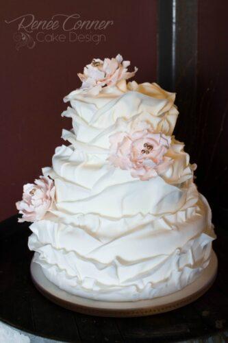 Shabby Chic Ruffle Cake