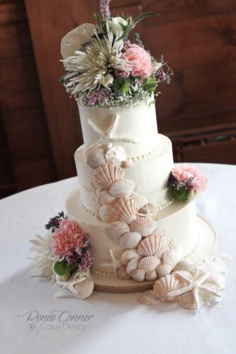 Cascading Gumpaste Sea Shell Cake