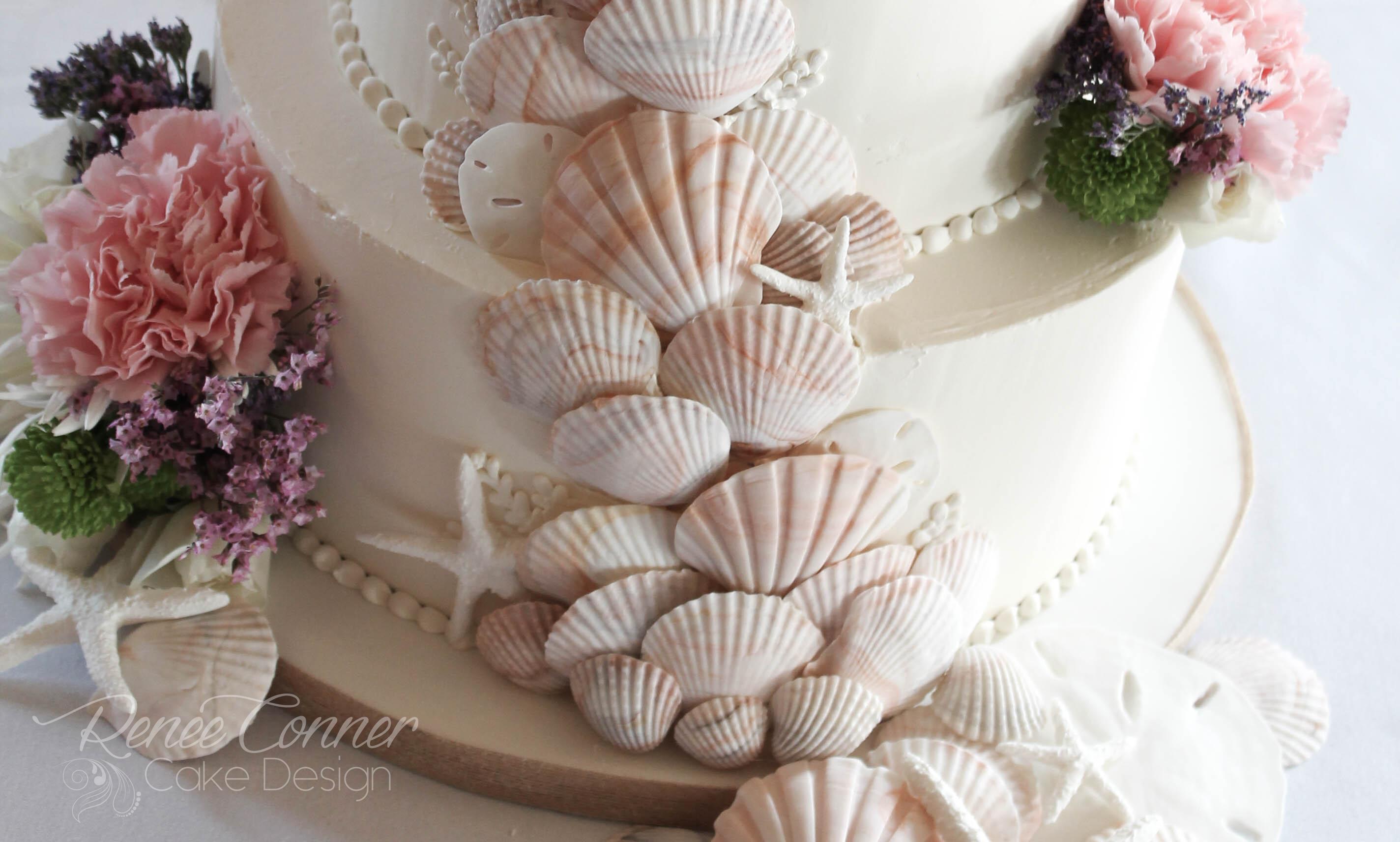 Sea Shell Cascade Cake