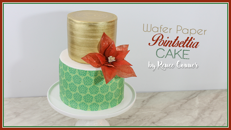 Pointsettia Holiday Cake | Renee Conner