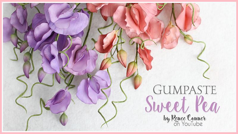 Gumpaste Sweet Pea