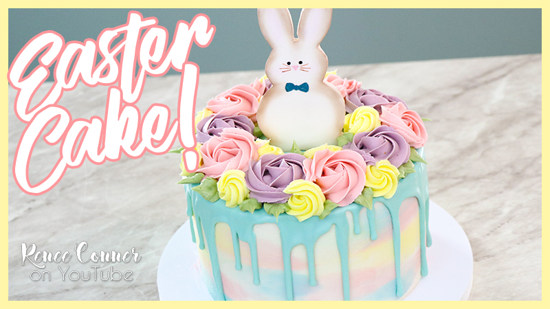 Watercolor Easter Cake